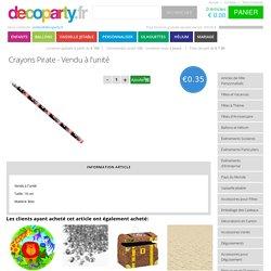 Crayons Pirate - Vendu à l'unité