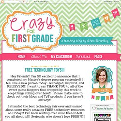 Crazy for First Grade: FREE Technology Toys!!!