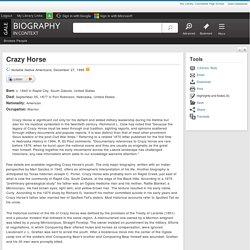 Crazy Horse - Biography in Context