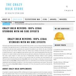 Crazy Bulk : 100% Legal Steroids