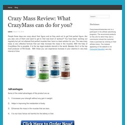 Crazy Mass Supplements