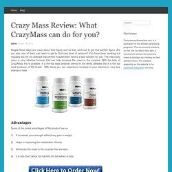Crazy Mass Supplements