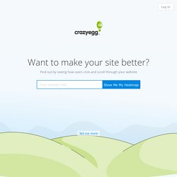 Crazy Egg - Improve the effectiveness of your website