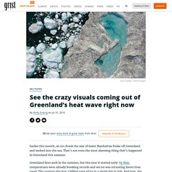 See the crazy visuals coming out of Greenland's heat wave right now