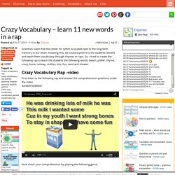 Crazy Vocabulary - learn 11 new words in a rap