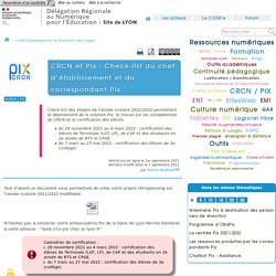 CRCN et Pix : Check-list du chef d'établissement
