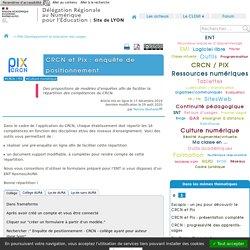CRCN et Pix : enquête de positionnement