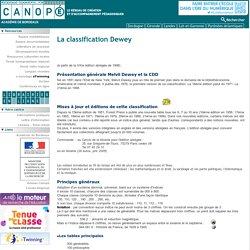 Fonctionnement Classification Dewey