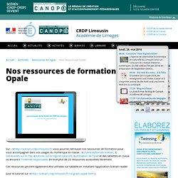 CRDP du Limousin: Nos ressources Opale