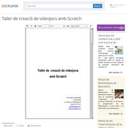 Taller de creació de videojocs amb Scratch