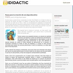 Pasos para la creación de una App educativa – iDidactic