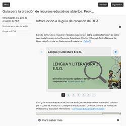 Guía para la creación de recursos educativos abiertos. Proyecto EDIA