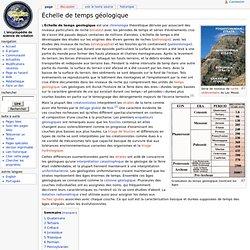 Échelle de temps géologique - CreacionWiki, L'encyclopédie de science de création