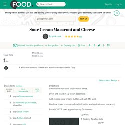 Sour Cream Macaroni And Cheese Recipe