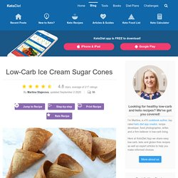 Low-Carb Ice Cream Sugar Cones