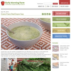 Cream of Swiss Chard Gruyere Soup - Early Morning Farm