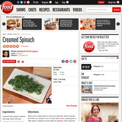 Creamed Spinach Recipe : Emeril Lagasse