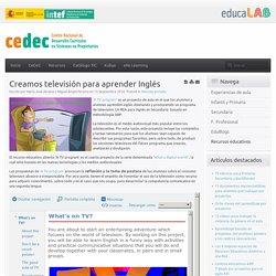 Creamos televisión para aprender Inglés