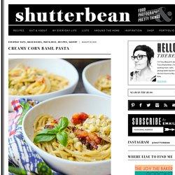 Creamy Corn Basil Pasta - Shutterbean