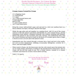 creamy lemon custard ice cream recipe