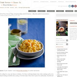 Best Stove Top, One Pot Macaroni and Cheese Recipe