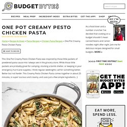 One Pot Creamy Pesto Chicken Pasta Recipe