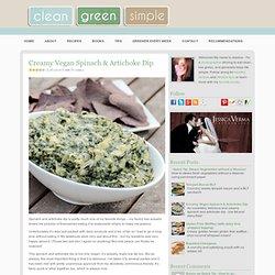 Creamy Vegan Spinach & Artichoke Dip