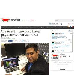 Crean software para hacer páginas web en 24 horas