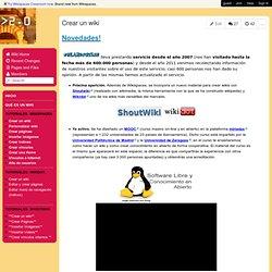 creandowikis - Crear un wiki
