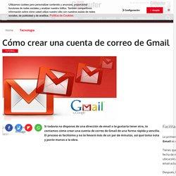 Cómo crear una cuenta de correo de Gmail