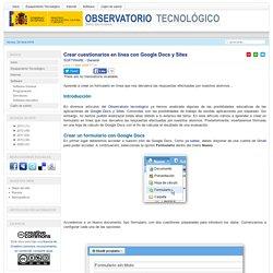 Crear cuestionarios en línea con Google Docs y Sites