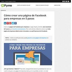 Cómo crear una página de Facebook en 5 simples pasos