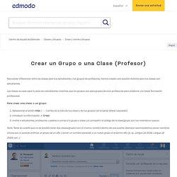 Crear un Grupo o una Clase (Profesor) – Centro de Ayuda de Edmodo