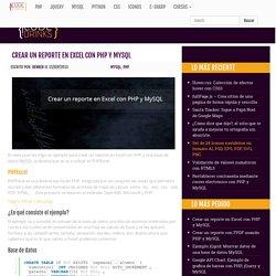 Crear un reporte en Excel con PHP y MySQL