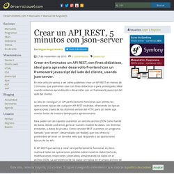 Crear un API REST, 5 minutos con json-server