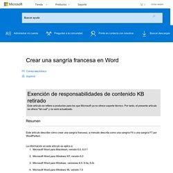 Crear una sangría francesa en Word