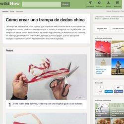 Cómo crear una trampa de dedos china: 8 pasos