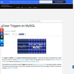 Crear Triggers en MySQL