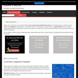 Crear tu escape room - Escape blog