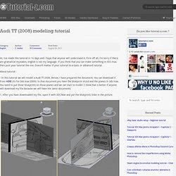 Audi TT (2008) modeling tutorial « Tutorial-z.com