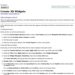 Create 3D Widgets