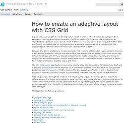 How to create an adaptive layout with CSS Grid