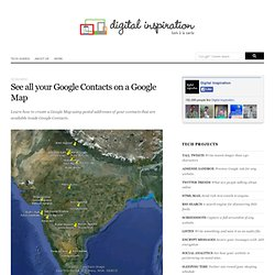 How to Create a Google Map with Addresses of your Google Contacts