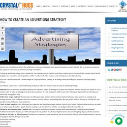 How To Create An Advertising Strategy?