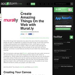 Create Amazing Things On the Web with Mural.ly