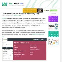 Create an Amazon-like Navigation Menu with jQuery