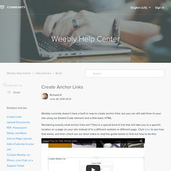 Create Anchor Links – Weebly Help Center