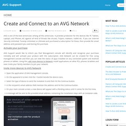 Create and Connect to an AVG Network