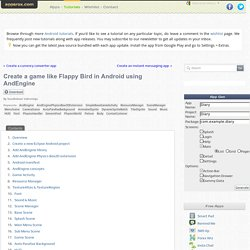 Create a game like Flappy Bird in Android using AndEngine